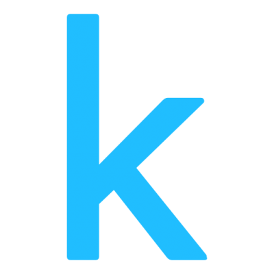 'k' for 'kaggle'
