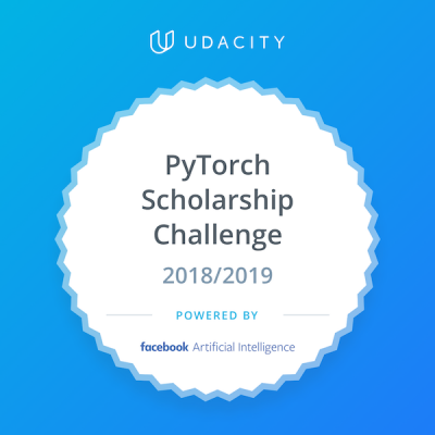 Udacity PyTorch Scholarship Challenge badge